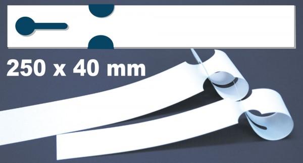 Schlaufen-Etiketten - 250 x 40,0 mm auf Bogen für Laserdrucker