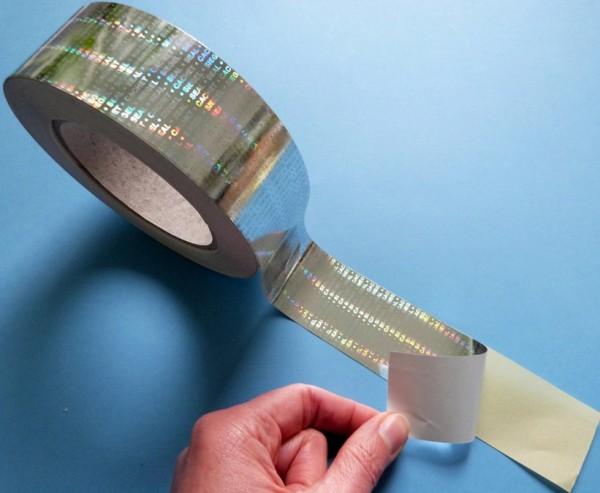 """Sicherheitsklebeband Hologramm-Papier, silber-glänzend, """"SIEGEL-SEAL-CACHET"""""""