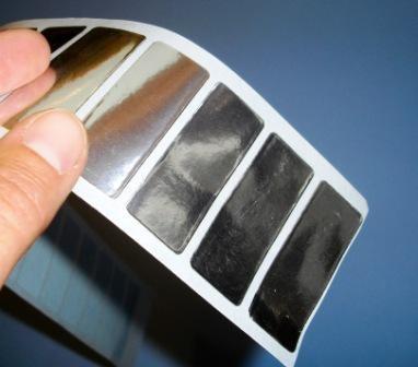 Metallisiertes Papier, silber glänzend