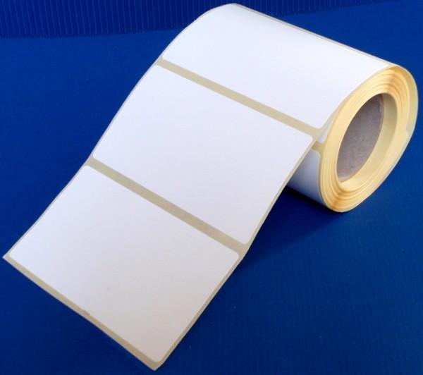 Rollen-Inkjet, Spezial-Papier, weiß-glänzend, Klebstoff permanent