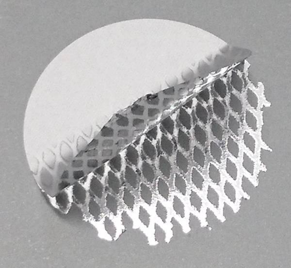 Sicherheitsetikett, silber-matt mit Rautenmuster, rund