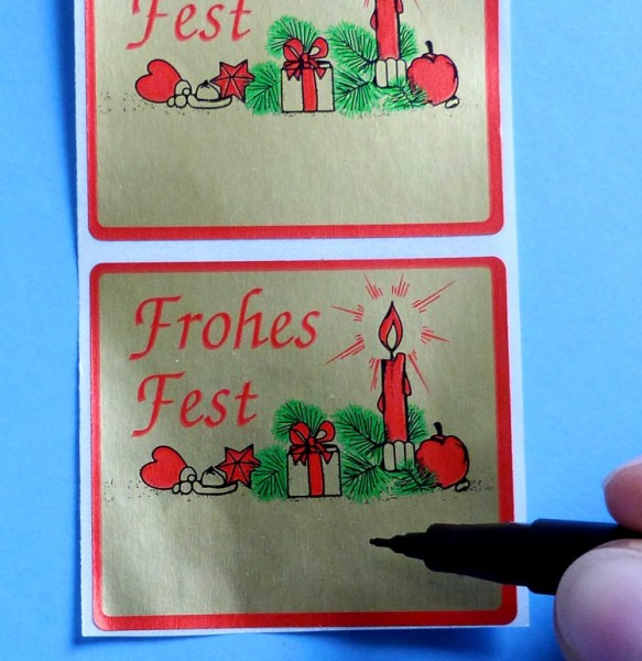 Weihnachtsetiketten zum Beschriften