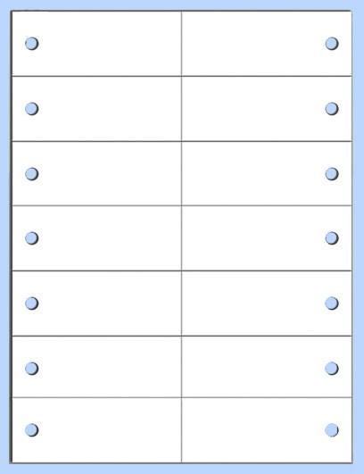 Polyester-Anhänge-Etiketten 105,0 x 40,0 mm, auf Bogen 21x28cm für Laserdrucker
