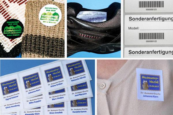 Textiletiketten mit eigenem Logo