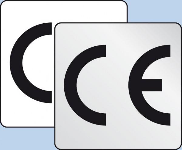 CE-Zeichen, Folien, 25 x 25 mm
