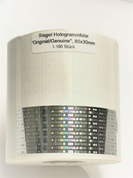 Hologrammetikett, 80 x 30 mm, unbedruckt
