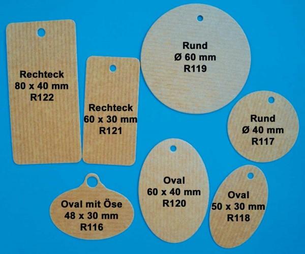 """Anhänge-Etiketten, Kraftkarton, Design """"Packpapier"""""""