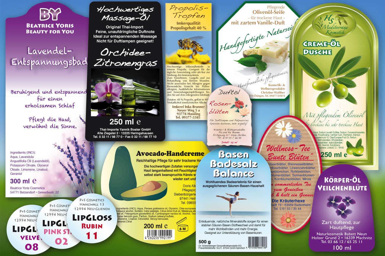 Kosmetikaufkleber, Aufkleber für Wellnessprodukte