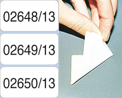 Nummerierte Etiketten - Papier weiß, Klebstoff ABLÖSBAR