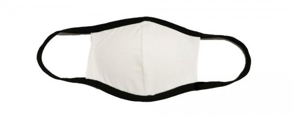 Stoffmaske, weiß-schwarz mit Filter