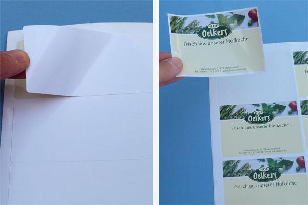 Glänzende A4 Etiketten für Laserdrucker