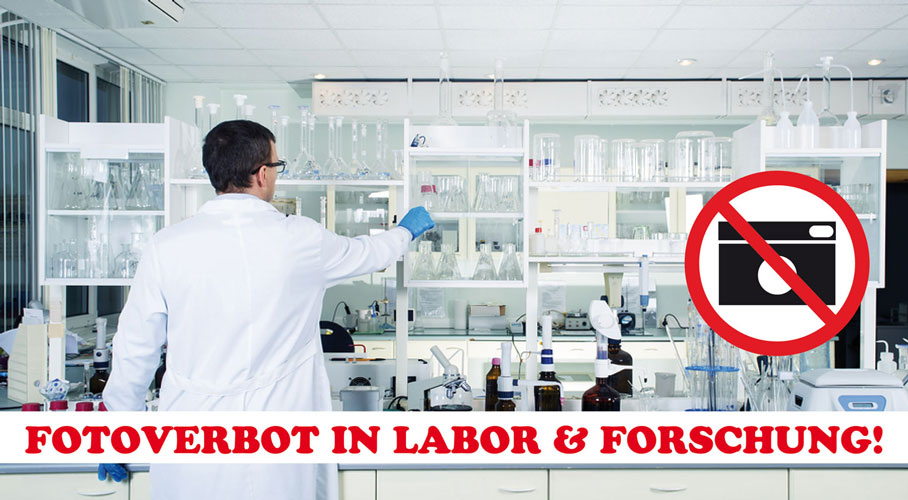 fotoverbotssiegel labor