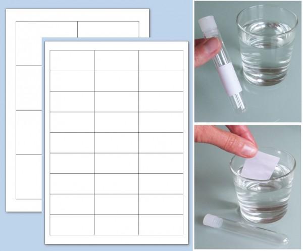 A4 Bogen Etiketten mit wasserlöslichem Klebstoff