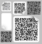 etiketten mit barcode qr-code