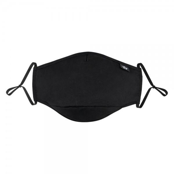 Behelfs Mundschutz mit tauschbarem Filter, schwarz