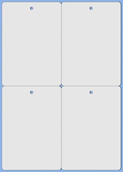 Polyester-Anhänge-Etiketten 105,0 x 148,5 mm, auf A4-Bogen für Laserdrucker