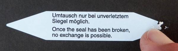 """Sicherheits-Siegel """"spitz"""" - PE-Dokumentenfolie"""