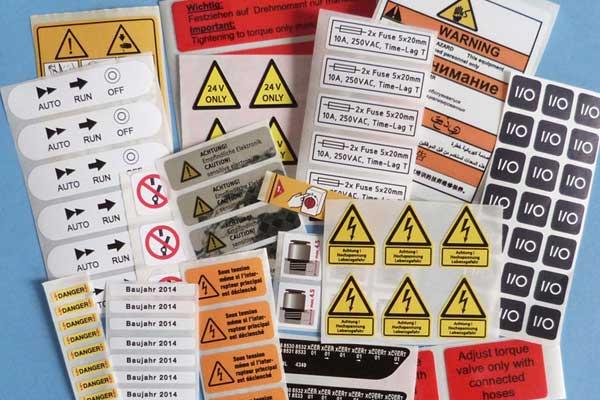 elektro-etiketten mit druck