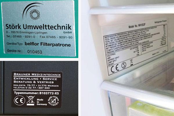kennzeichnung elektrogeräte