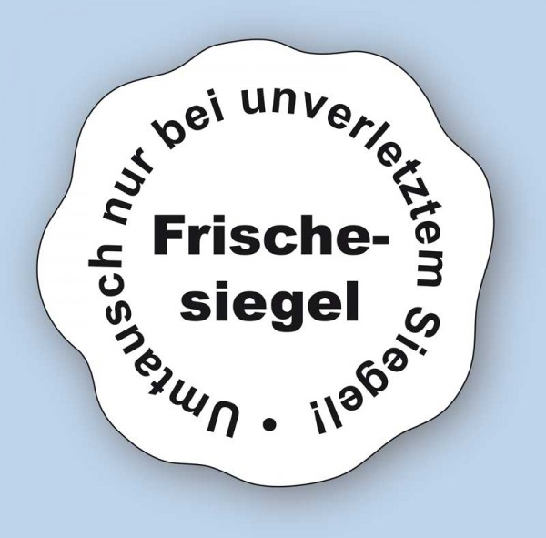 Frischesiegel - Umtausch nur bei unverletztem Siegel