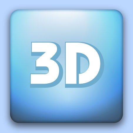 3D Doming-Etiketten, quadratisch