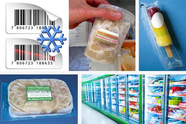 Aufkleber für Tiefkühlprodukte