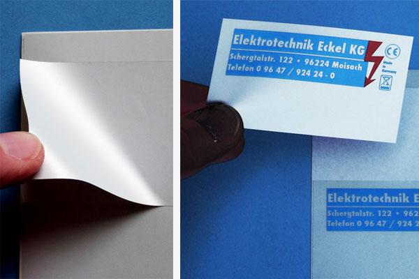 Bedruckte Polyesteretiketten für Laserdrucker