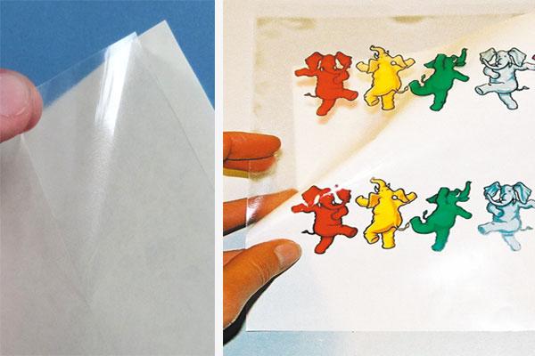 Transparente Verpackungsaufkleber selbst drucken mit Laserdrucker