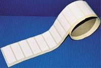 Polyester-Folie, weiß-matt - blanko - 60x22 mm