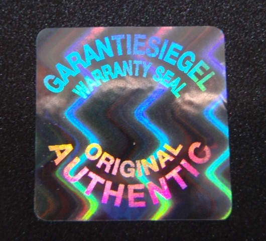 "Hologrammsiegel ""Garantiesiegel - Warranty Seal / Original - Authentic"""