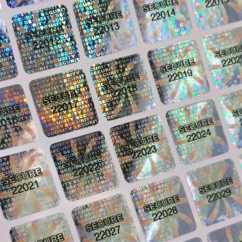 Nummerierte Hologrammetiketten