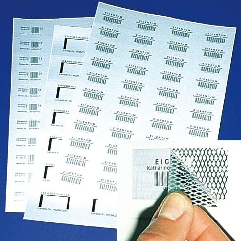 Für Laserdrucker: Sicherheits-Rautenmusterfolie, auf A4-Bogen