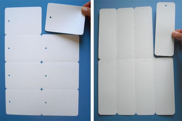 Anhänger auf A4-Bogen aus Polyester für Laserdrucker