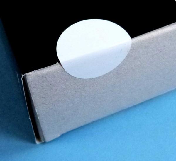 Verschluss-Punkte aus PVC-Folie, weiß
