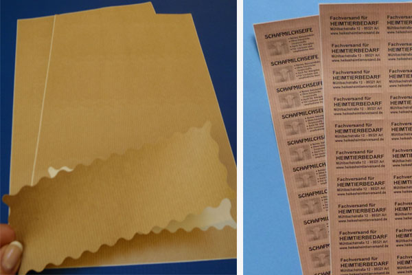 Braunes Packpapier für Laserdrucker