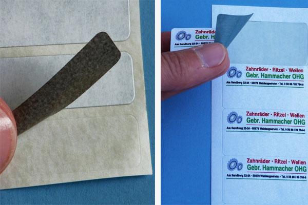 A4 Etiketten für Inkjetdrucker zum überkleben