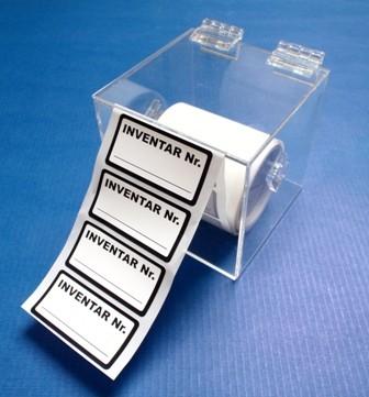 Transparenter Acryl-Etikettenspender