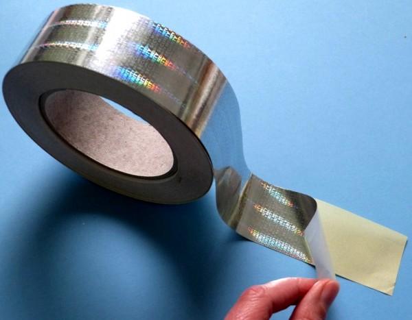"""Sicherheitsklebeband Hologramm-Papier, silber-glänzend, """"SECURITY"""""""
