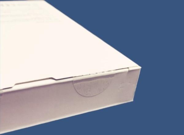 Verschlusspunkte mit mittiger Perforation