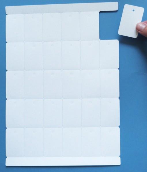 Polyester-Anhänge-Etiketten 53,4 x 35,0 mm, auf A4-Bogen für Laserdrucker