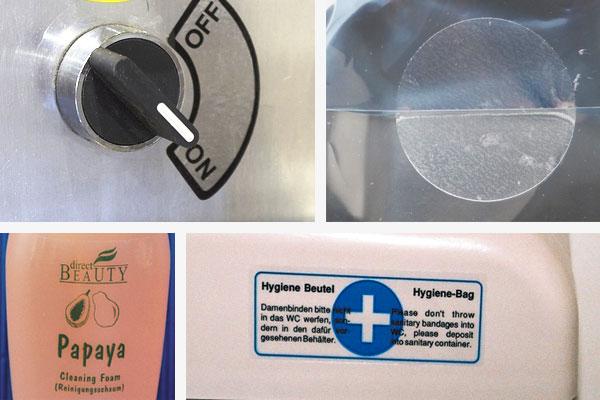 transparente pvc-labels