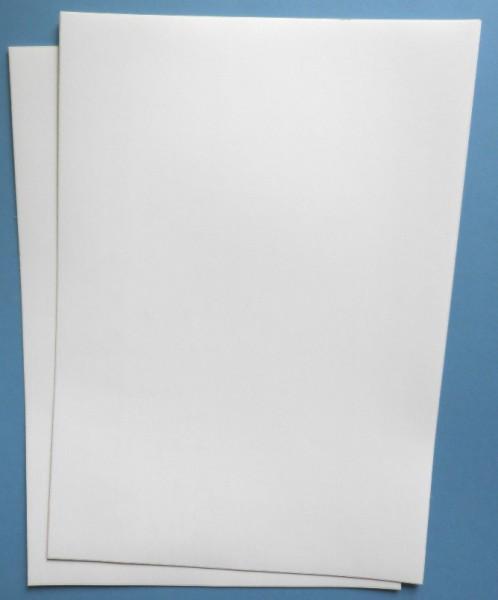 Folien für Laserdrucker, A4-Bogen, blanko - in weiß-matt oder silber-matt