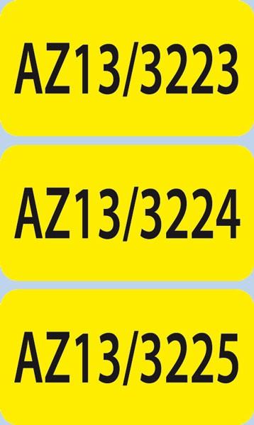 Nummerierte Etiketten - Papier gelb