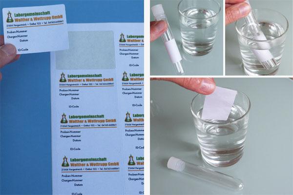 A4 Bogen für Inkjetdrucker mit wasserablösbarem Klebstoff