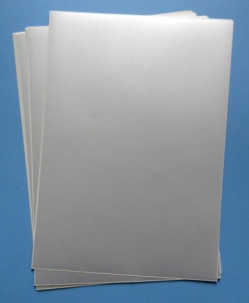 Folien für Laserdrucker, A4-Bogen, blanko - in silber-matt