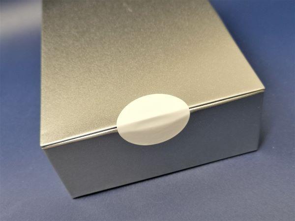 Superhaft-Papier, weiß, blanko, stark haftend - ru 40 mm