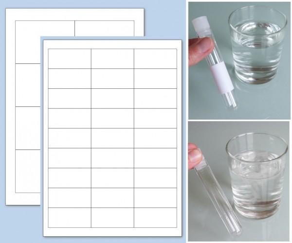 Papier und Klebstoff komplett in Wasser auflösbar, auf A4-Bogen