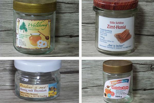 aufkleber für honiggläser