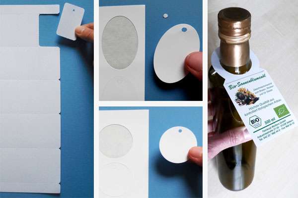 Anhängeschilder für Laser / Inkjketdrucker auf A4 Bogen