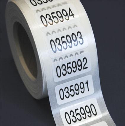 Nummerierte Etiketten - PE-Folie, weiß-glänzend